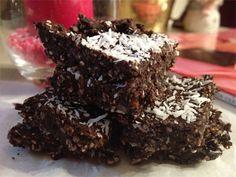 No Bake Coconut Brownie Bites Recipe