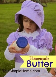 Homemade Butter and Little House - Love this classroom reading and hand's on activity idea to teach the kids more about the Little House on the Prairie era.