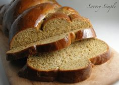 Pumpkin Challah Bread ~ Savory Simple
