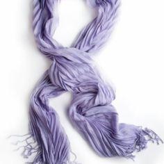 Solid Pleat Scarf - Lavender at KIST Boutique, $16 (USD)