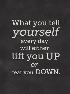 that little voice inside your head #liftyouup #happythoughts