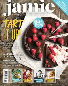 Jamie's cost-conscious classics! Everyday foods take centre stage in the new issue of Jamie Oliver's magazine. Plus, brilliant breakfasts, terrific tarts & Singaporean spice