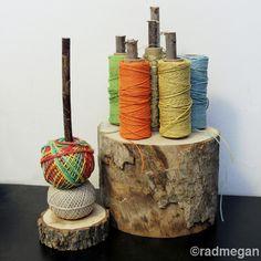 How-To: Wooden Stump Twine Organizer #organizer #twine #DIY
