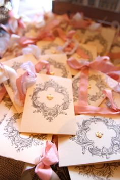 Linen, Lace, & Love: Shabby Chic Crown Bridal Shower #bridal #shower #crowns #shabbychic #pink