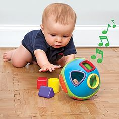 2 toys in 1 musical crawling toy-yea!  Designed by One Step Ahead!