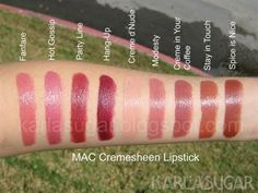MAC Creamsheen Lipsticks
