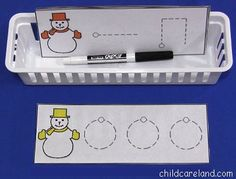 Snowman Pre-Writing Skills Cards - Re-pinned by @PediaStaff – Please Visit http://ht.ly/63sNt for all our pediatric therapy pins