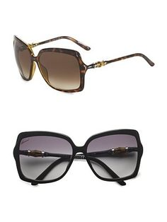 Gucci - Oversized Sunglasses - Saks.com - StyleSays