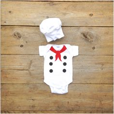 Baby French Chef Costume Chef Onesie by TheWishingElephant on Etsy, $32.00