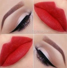 Natural Look with Red Lips