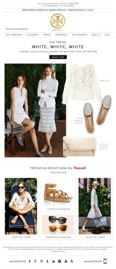 Tory Burch showcases what's trending on Pinterest.
