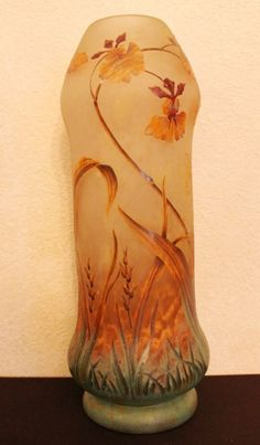 Daum Nancy Art Glass Vase.  Love the color