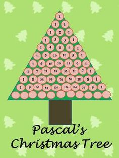 Pascal's Christmas Tree - students examine Pascal's Triangle for patterns, including sums, powers, perfect squares, prime numbers, divisibility, and more.