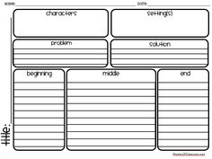 Clutter-Free Classroom: FREE STORY MAPS for READING & WRITING {Friday Freebie}