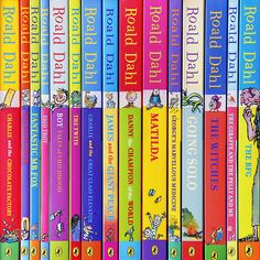 These books represent some of Roald Dahl's most popular books.  Visit Roald Dahl's official website at http://www.roalddahl.com