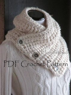 Digital PDF Crochet Pattern for Calico Cat Scarf - DIY