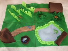 This is what Shaun has to put up with: Felt Pond Playmat