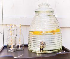 recycled starbucks frappachino glasses