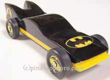 Batmobile Pinewood Derby Car