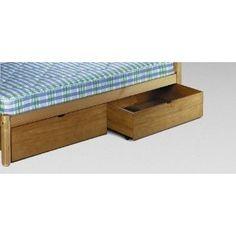 Pine Underbed Storage Drawers. - PAIR