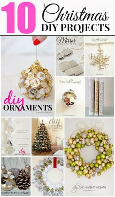 10 Christmas DIY projects you can make for less than $10! Love these!