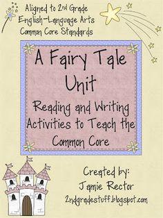 grade stuff, tale unit, school, 2nd grade units common core, fairy tales unit