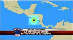 Quake of 7.4 magnitude Strikes in Pacific Off El Salvador Coast - Los Angeles Local News, Weather, and Traffic