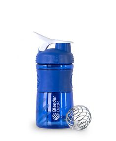 BlenderBottle SportMixer Water Bottle and Shaker Cup Hybrid - perfect hydration companion, BlenderBall wire whisk quickly mixes even the thickest energy and nutrition shakes with ease. Odor-resistant Eastman Tritan plastic, SportLoop for easy carrying, StayOpen flip cap won't close on your nose Rubberized SportGrip offers a firm grip! Ounce and milliliter markings for easy measuring, Large drink/pour spout, Easy to clean—dishwasher safe, BPA-free