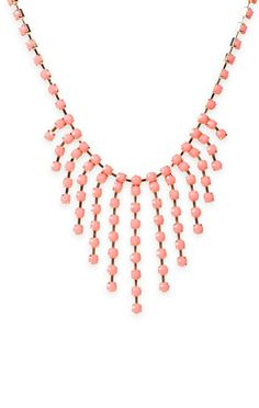 #necklace with stone fringe and colored #stones   $9.37