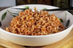 Cheesy Homemade-SpaghettiOs-Recipe where you can add chicken to make it a dinner with protein.