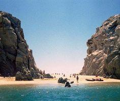 Sparkling ocean waters in Cabo San Lucas, Mexico.