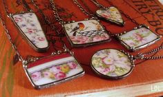 Jewelry made from broken china plates, new how to book