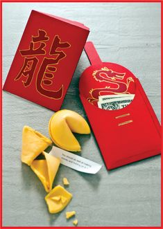 Chinese New Year Red Envelopes and Fortune Cookies  ----------- #china #chinese #chinesenewyear
