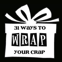 great ideas for wrapping gifts!  also: http://www.olderandwisor.com/2012/09/more-than-75-gift-wrap-ideas.html