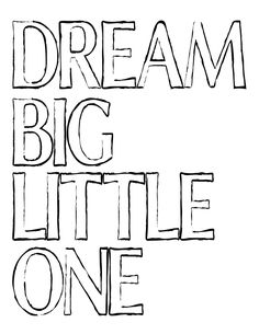 Dream Big Free Printable at theDIYvillage.com