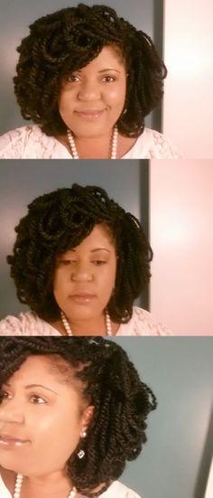 Marley Braid Petal Loc Fro using Marley Braid Hair.