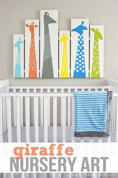 DIY Giraffe Wall Art for Nursery or Kid Room (or even as a headboard) --- Make It and Love It