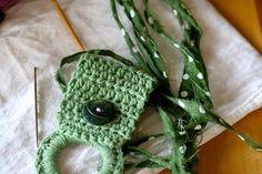 crochet kitchen towel holder
