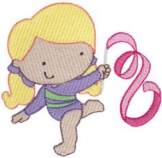Gymnastics embroidery designs at Bunnycup Embroidery at http://www.bunnycup.com/embroidery/design/Gymnastics