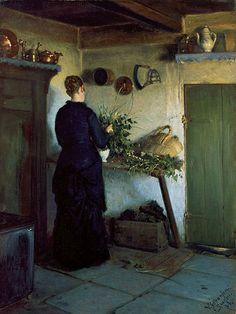 Johansen, Viggo (1851-1935) - 1884 Kitchen Interior (Skagen Museum, Denmark) by RasMarley, via Flickr
