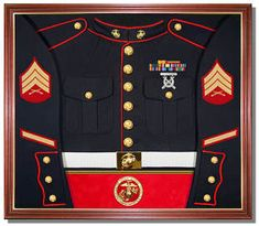 USMC Uniform Display Case. Would LOVE to get the husband this when he retires