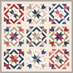 star bright, light star, bright quiltalong, quilt patterns, red white blue, star light, blue quilts, happi quilt, fabric requir