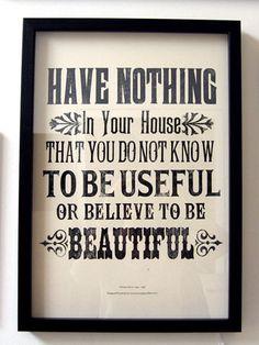 Balanced life....usefulness and beauty