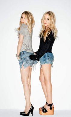 jean shorts x 2