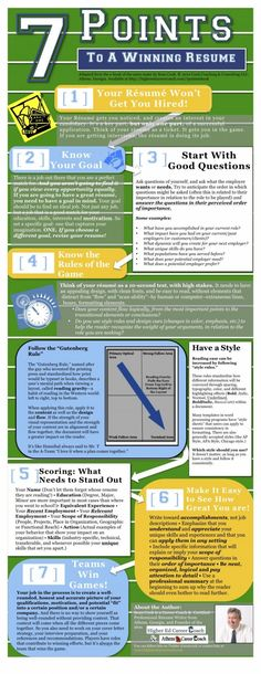 7 Points to a Winning Resume #Infographic #infografía
