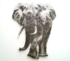 Amazing Portraits Made From Thousands of Hammered Nails by David Foster