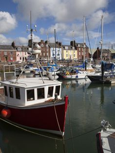 Fishing Boats and Yachts in the Harbour at Arbroath, Angus, Scotland
