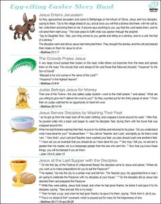 Easter: Easter Story Hunt - Love this idea!