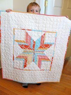 Herringbone Star baby quilt   Flickr - Photo Sharing!