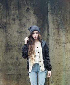 Slouch beanie and jacket